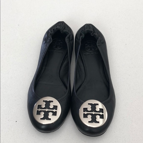 Tory Burch Minnie Travel Ballet Leather Flat